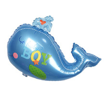 1pcs 90x72cm boy girl ocean whale baby foil flip-flops baby shower birthday party decoration supplies children's toys Globos(China)