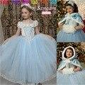 2016 Cabritos de la manera de La Boda Vestidos Para Niñas Fiesta de Cumpleaños Vestido de Princesa 2-7 T Niños Niño de dama de Honor Elegante PageantTQ8054
