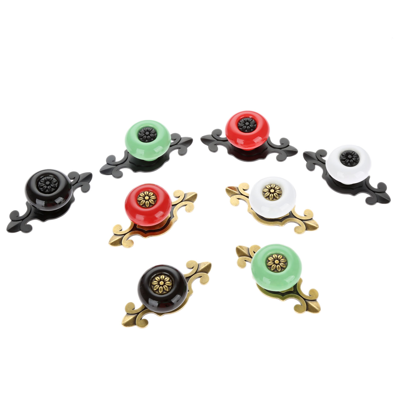 Vintage Furniture Handles Ceramic Cabinet Knobs and Door Cupboard Drawer Kitchen Pull Fittings