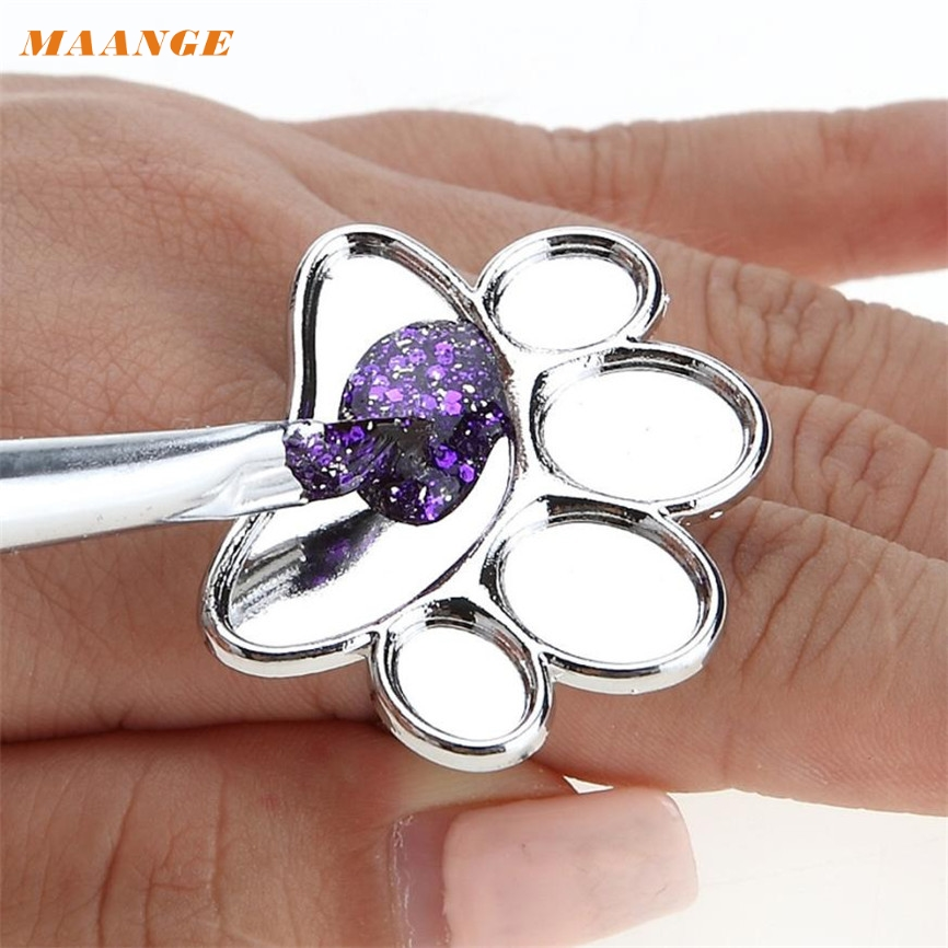 Nail Polish Palette Ring MAANGE Colorwomen 1pc Stainless