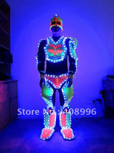LED luminous robot suit for performance/Ultraman/glowing clothes /light up costume