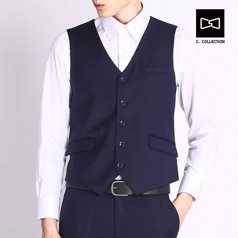 2017 Lelaki Pinggang jaket Suit Lelaki, Pinggang sesuai Pakaian Vest - Pakaian lelaki - Foto 2