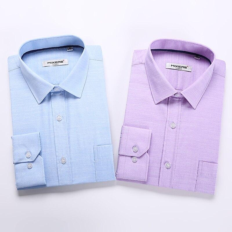 Men's Dress Shirt Regular Fit Oxford Solid 1