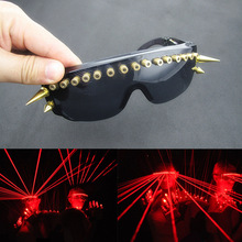 DJ Shows Light Up Glasses Nightclub Performers Stage Red Laser Flashing Luminescent LED Novelty Gifts Party Supplies