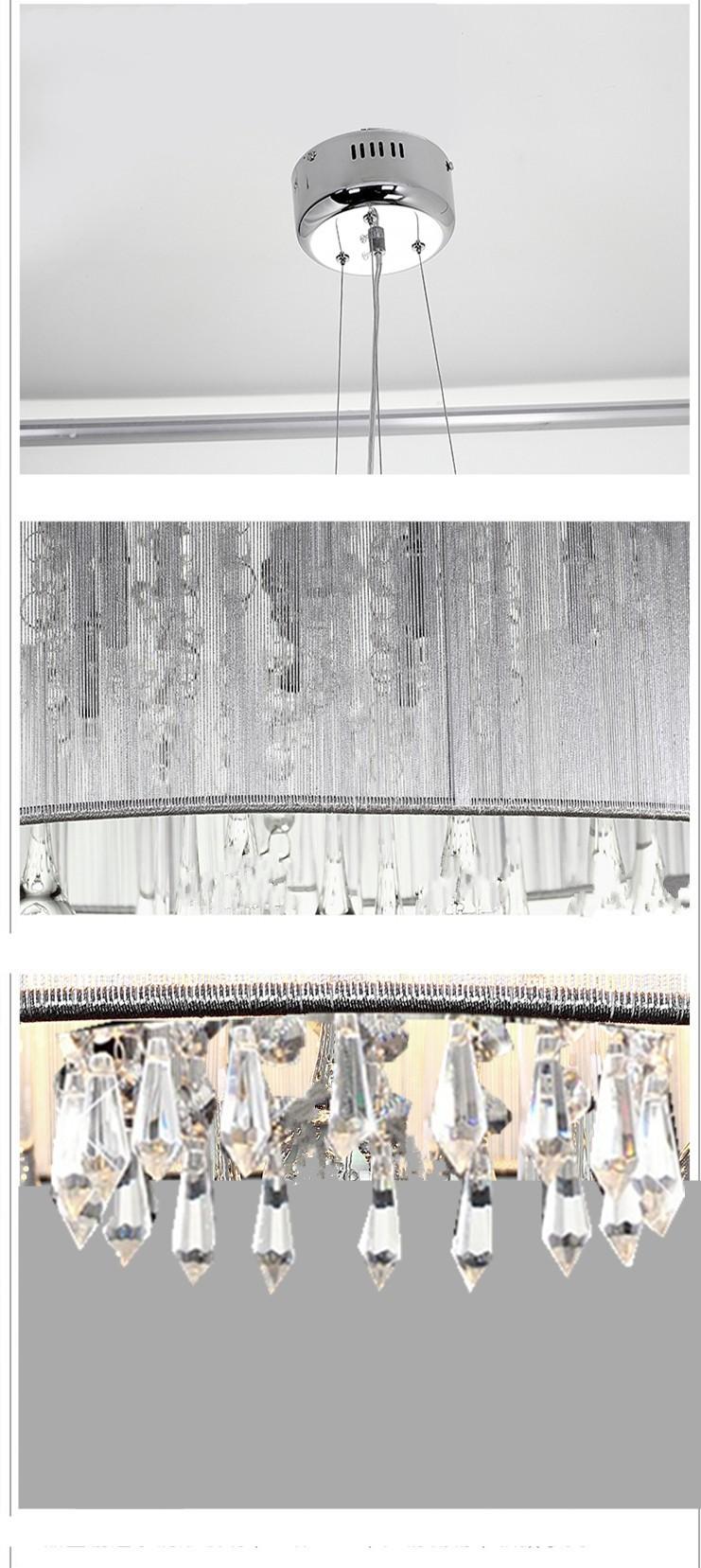Creare Un Lampadario Di Stoffa us $72.5 75% di sconto|diametro di stoffa fatti a mano k9 lampadari di  cristallo luci lampade moderne di lusso atmosfera dia300xhe185mm  un'atmosfera