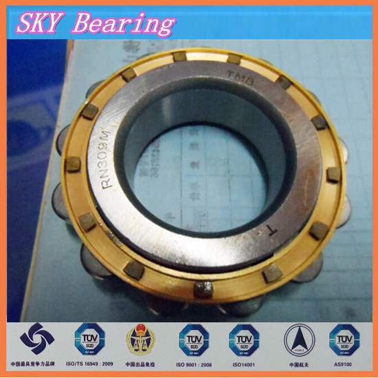 double row overall eccentric bearing 222UZ41113-17 T2X brass cage double row eccentric bearing rn205 eccentric collar