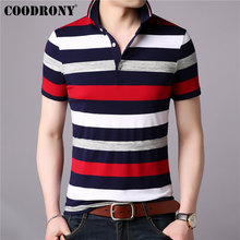 COODRONY T Shirt Men Business Casual Turn-down Collar Mens Cotton 2019 Spring Summer Short Sleeve T-shirt Tops S95019