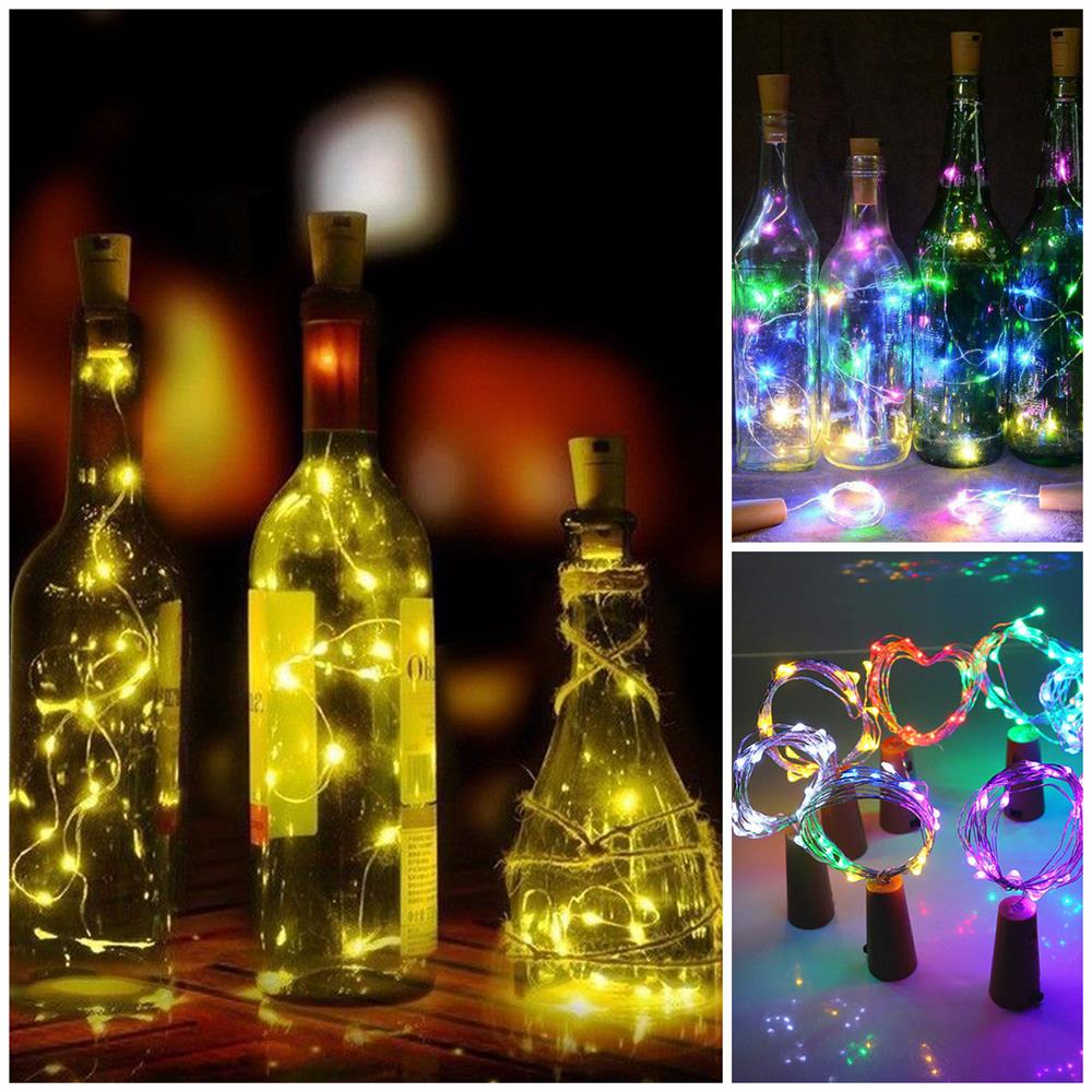 Fairy Garland For Christmas Tree Wedding Party Decoration Copper Wire LED String Lights Holiday Lighting 1M 2M