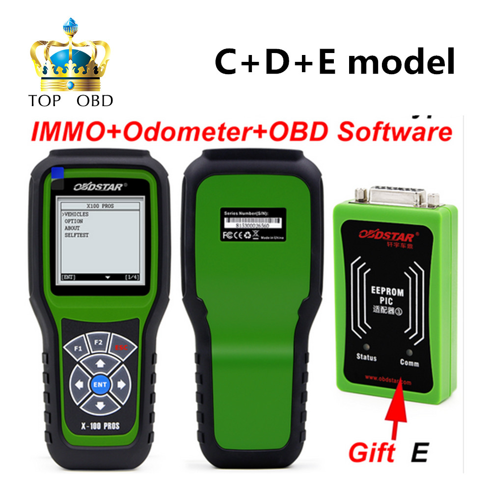 OBDSTAR X100 PROS C+D+E model Key Programmer with EEprom Adapter+IMMOBILISER+Odometer Adjustment Replace X-100 Pro