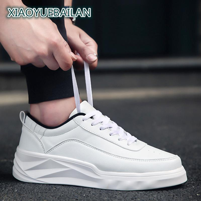 The Design Trend Of Autumn White Shoes For Men With Thick Bottom Muffin Shoes Unique Fas ...