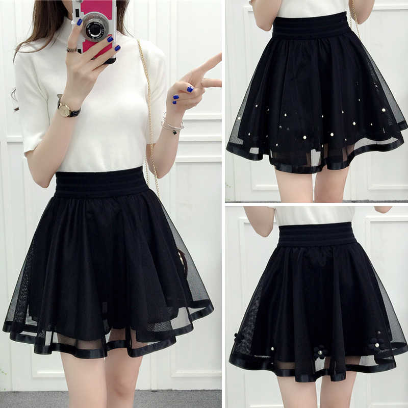 c525551047 Detail Feedback Questions about Simple Black Lace Mini Skirts High Waisted Tulle  Girls Short Dance School Skirts Saia Feminina Puffy Womens Underskirt s40  ...