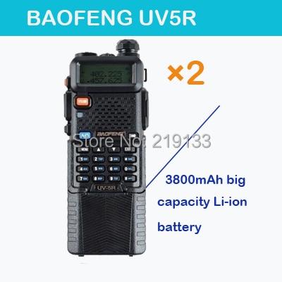 walkie talkie par radio comunicador BaoFeng Pofung UV 5R, Dual Band Vhf UHF Baofeng uv-5r, SOS FM Radio + Gratis Øretelefon