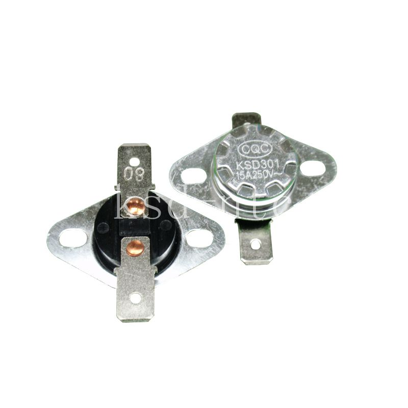 5PCS Thermostat KSD302/KSD301 120C 125C 130C 135C 140C 145C 150C degree 15A250V Normally Close