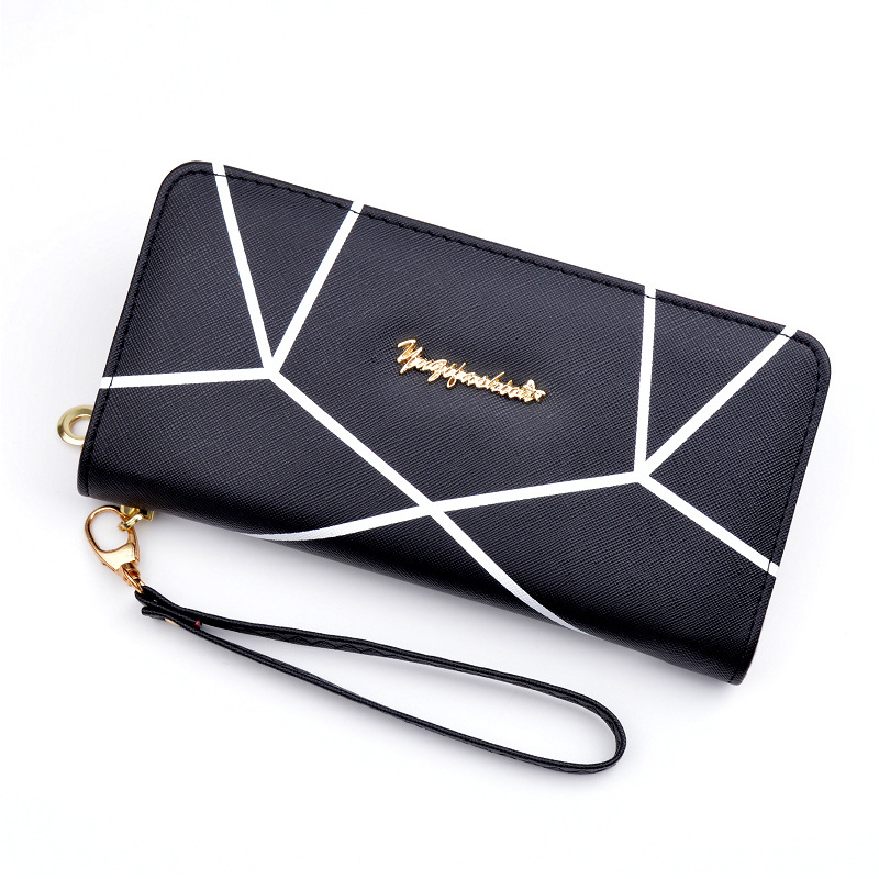 New Women PU Leather Wallet Female Portable Multifunction Solid Purse Fashion Purses Long Style Zipper Wallets Large Capacity