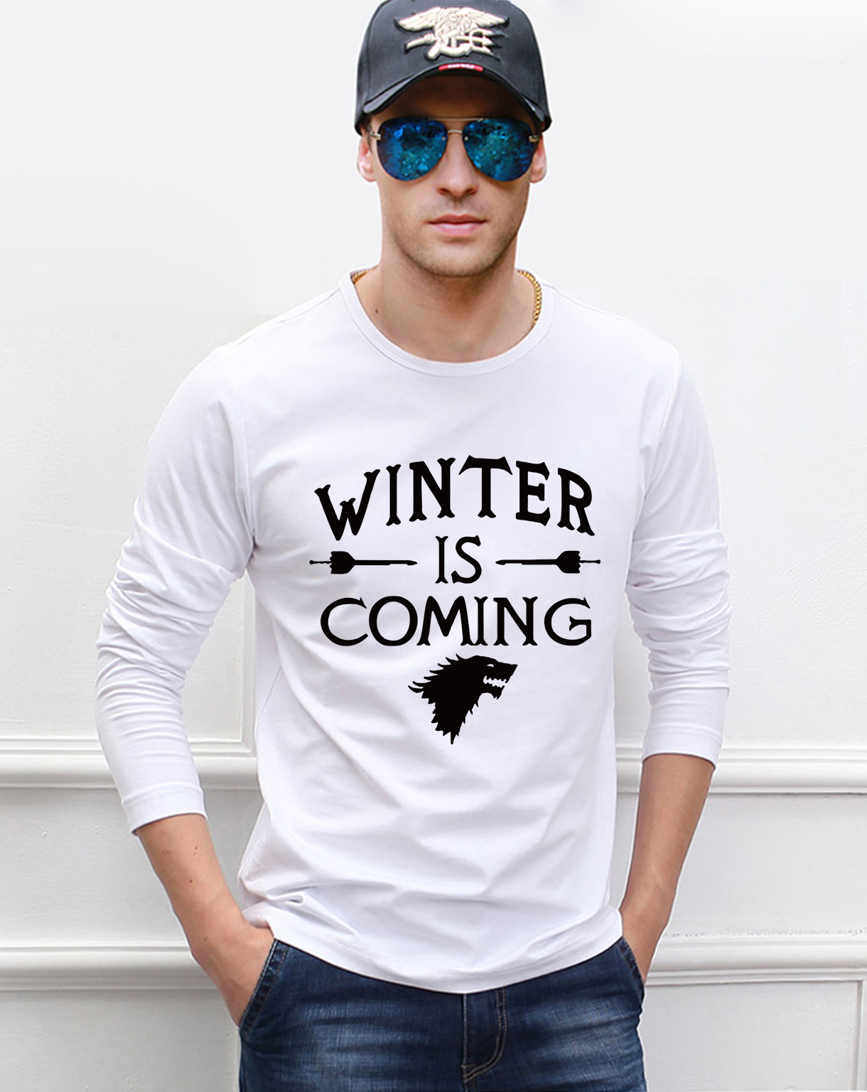 Game of Thrones  men's long sleeve T-shirt 2019 spring new 100% cotton slim man t shirt brand men's sportswear