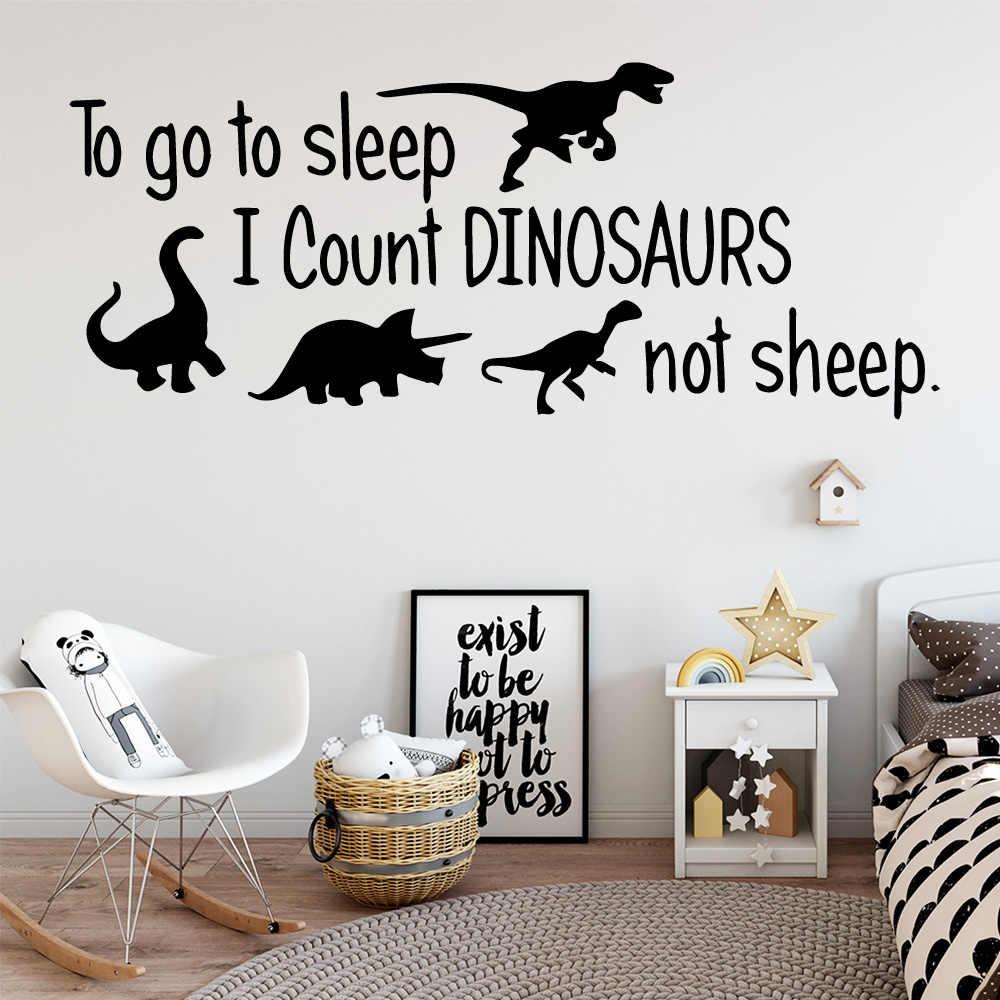Изысканный динозавр Цитата наклейки на стену украшение дома аксессуары для детской комнаты Переводные картинки для художественного декорирования украшение для спальной комнаты мальчиков LW85