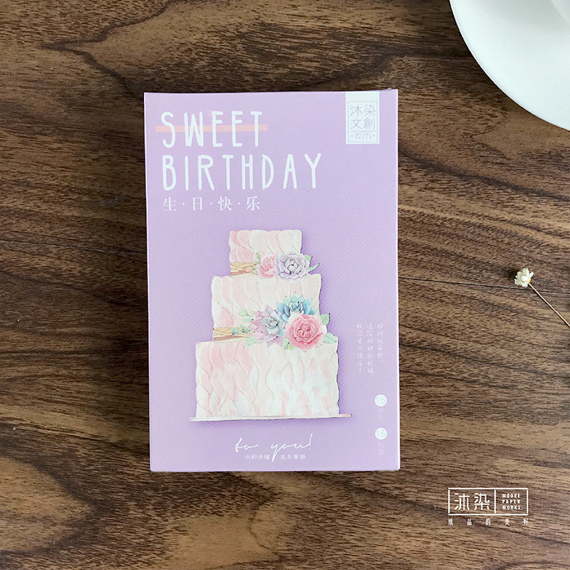 30 Sheets/Set Creative Sweet Birthday Postcard /Greeting Card/Message Card/Christmas And New Year Gifts