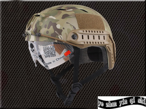 Image 4 - Emerson FAST Helmet With Protective Goggle BJ Type Helmet Military Airsoft Helmet tactical Army Helmet    free shipping