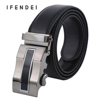IFENDEI New Men S Genuine Leather Belts Automatic Buckle Belt Fashion Business Male Belt Cow Skin