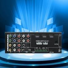 2017new 8 eingang 1 ausgang hdmi schalter-rangierlok-teiler mit audio für xbox ps3 smart hd 1080 p hdmi 3 eingang 1
