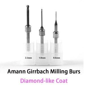Image 1 - DLC Diamond like Coat Carbide Milling Burs for Amann Girrbach CADCAM System 0.6mm, 1.0mm, 2.5mm