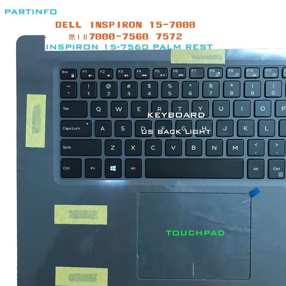 Brand new laptop parts for DELL INSPIRON 15 7560 7572 Palmrest ...