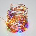 Праздник рождества Христова 5 В 10Meters100led USB Управляется 33FT Свадьба Фестиваль Украшения LED Медный Провод Строка Фея Света Лампы