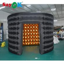 Овальные надувной стенки фото-павильона надувные фотобудка палатка для вечерние события