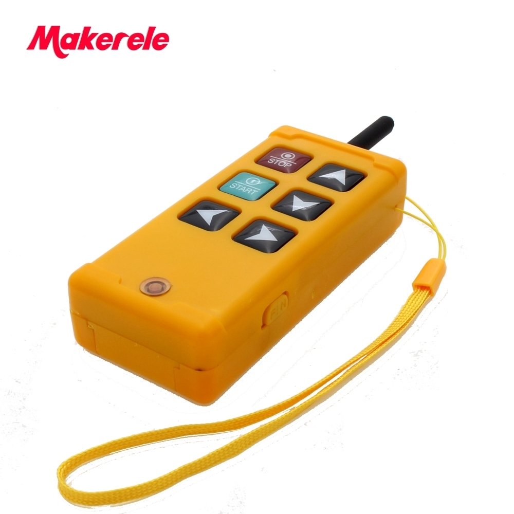 Industrial Wireless Radio remote controller Switch for crane 1 receiver 1 transmitter AC220V 110V 380V 36V DC12V 24V MKLTS 4 in Switches from Lights Lighting