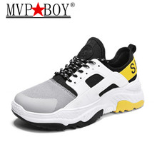 MVP BOY New Spring Autumn Men Casual Shoe Mesh Breathable Lace-up Sneakers Comfortabel shoes sapato masculino size 39-44