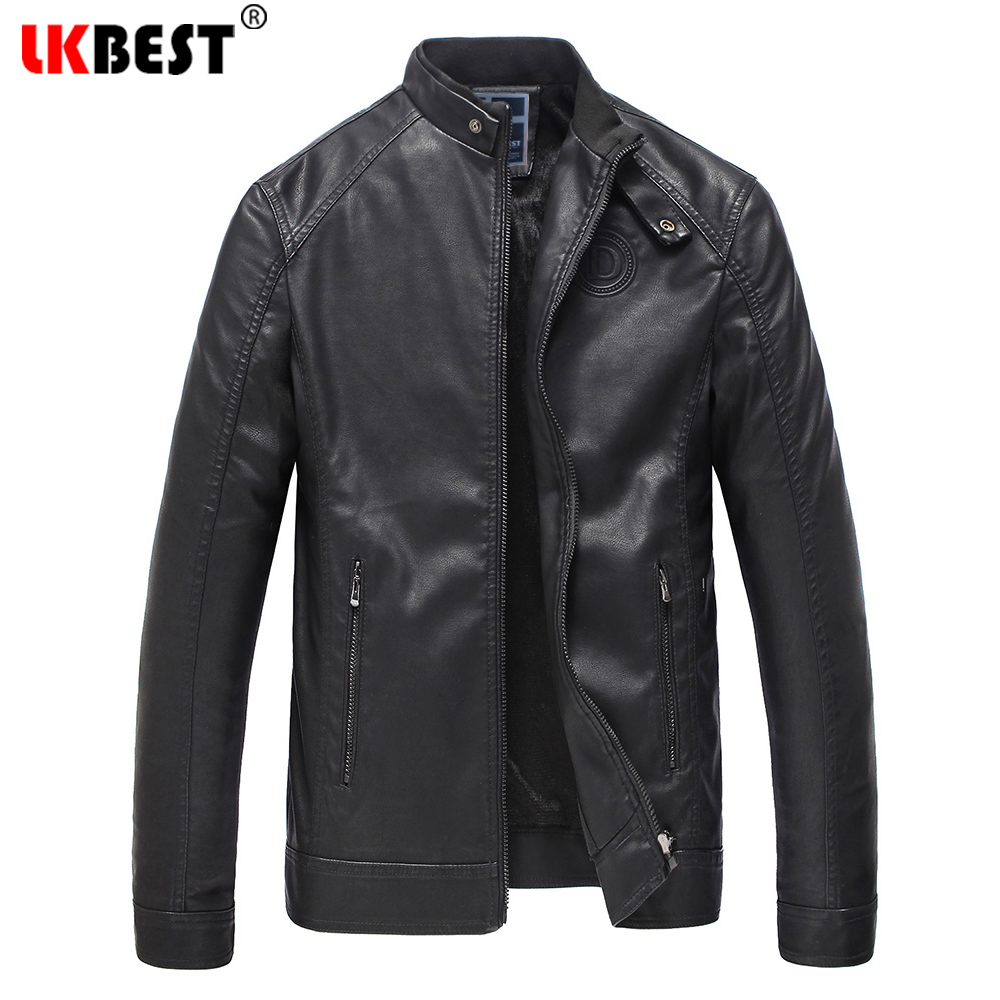 LKBEST 2018 Fashion Mens Leather Jackets And Coats Slim Fit Biker Leather Jacket Men Thick Soft Leather Clothes For Men (PY49)