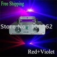 Двойной красный + фиолетовый/Фиолетовый DJ Лазерная освещения show system для дома вечерние, дискотека, бар