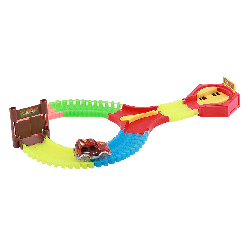 Race Car Track Toys Slot Car Tracks Toy Cars for kids Glow in the Dark Race Track