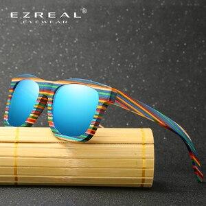 Image 3 - EZREAL Polarized Wooden Sunglasses Men Bamboo Sun Glasses Women Brand Designer Original Wood Glasses Oculos de sol masculino