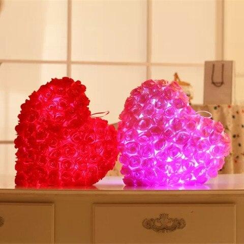 colorido luz travesseiro presente dos namorados para