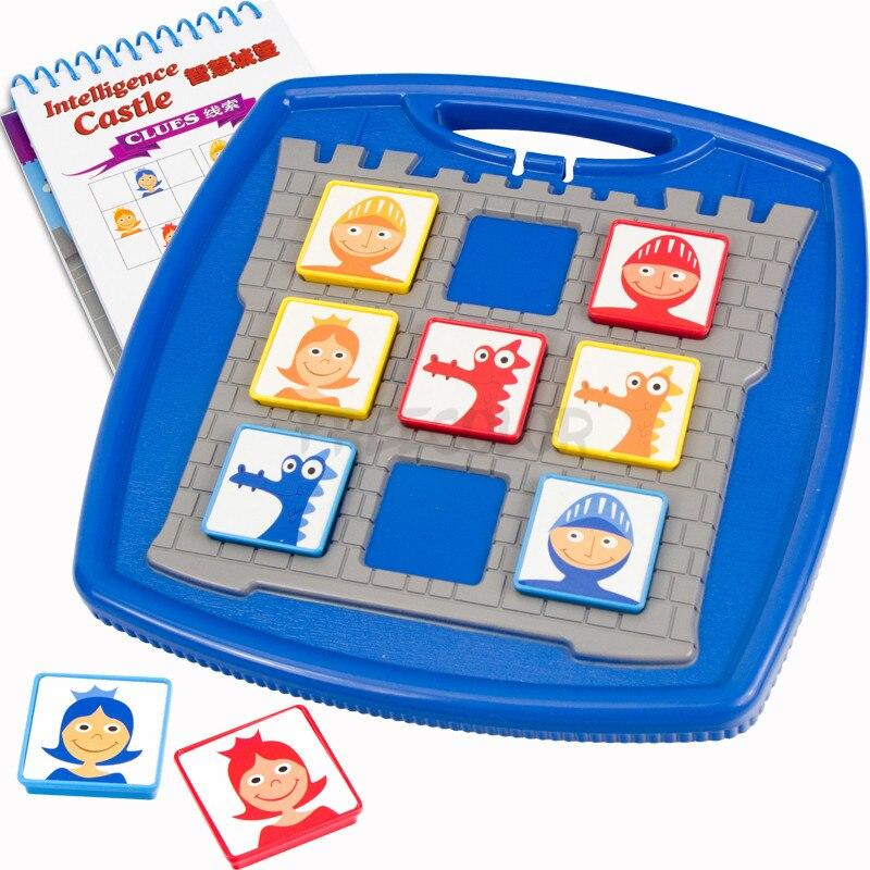 Smart Montessori Creative Intelligent Castle Games 40 Challenge With Solution Games IQ Brain Training Toys For Children Oyuncak
