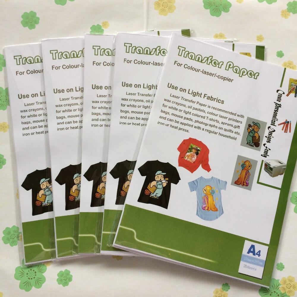 No need cutting t shirt paper A4 size 100 pcs per lot heat transfer paper sticker