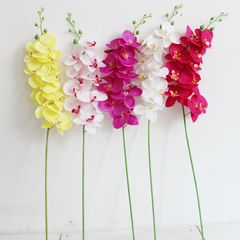 Single 9 Hua Hudie Orchid Artificial Flower Wholesale Creative Home
