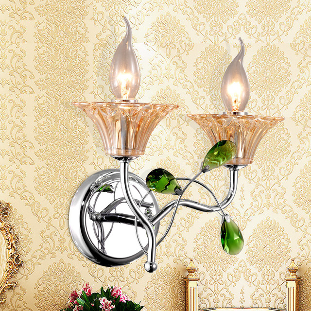 Luxury Wall Sconce Lighting European-style wall lights mirror front lamp bedside lamp crystal lamp Wall lamp bedroom