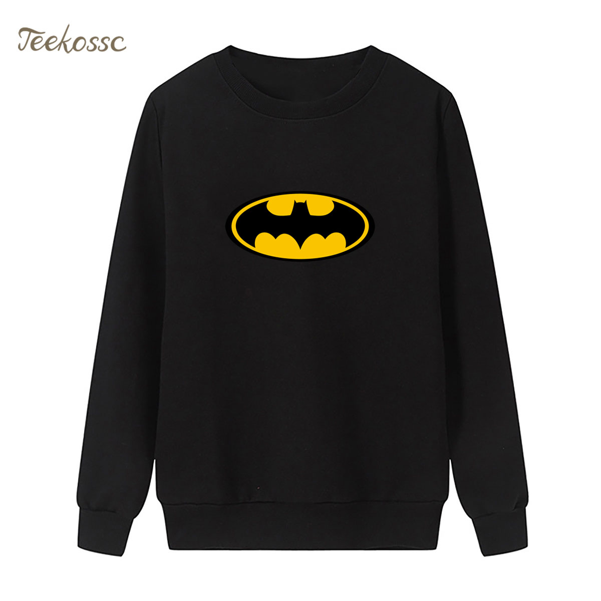 Batman Sweatshirt Super Hero Print Hoodie 2018 New Winter Autumn Women Lasdies Pullover Loose Fleece Streetwear Brand Clothing