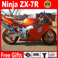 Free customize for Kawasaki 96 97 98 99 00 01 02 03 zx7r glaring orange fairing set ninja 1996 2003 ZX 7R OEM bodywork parts