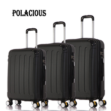 20″24″28″ 3Piece Classic striped patch Trolley suitcase/rolling spinner wheels Pull Rod luggage/Girl traveller case boarding bag