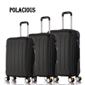 "20""24""28"" 3Piece Classic striped patch Trolley suitcase/rolling spinner wheels Pull Rod luggage/Girl traveller case boarding bag"