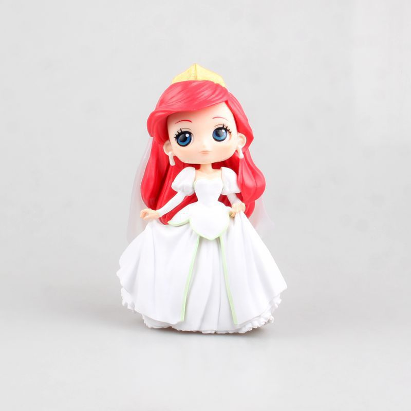 15CM figura de anime japonés ojos grandes Ariel vestido de boda figura de acción modelo coleccionable juguetes muñeca Vestido de verano para niñas la cola de sirena princesa ariel vestido cosplay disfraz para chica vestido verde de lujo