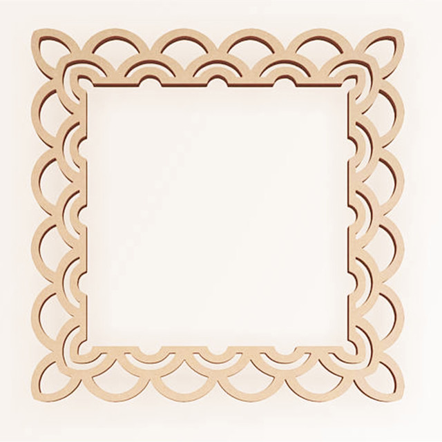 10pcs Laser Cut Unfinished Wooden Decorative Frame Home Wall Decor ...