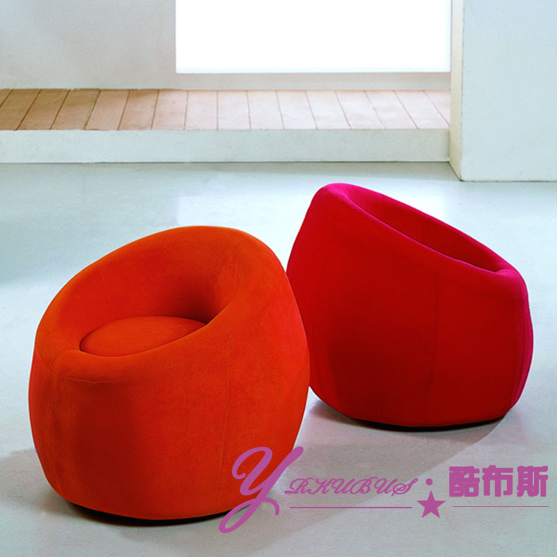 Cool Booth round living room sofa stool stool soft pack small balcony small sofa stool chair leisure chair-in Restaurant Chairs from Furniture on ... & Cool Booth round living room sofa stool stool soft pack small ...