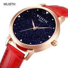 WLISTH Starry Sky Women Quartz Watch Waterproof Fashion Ladies Wrist Woman Watches Luxury Leather Strap Female Clock reloj mujer
