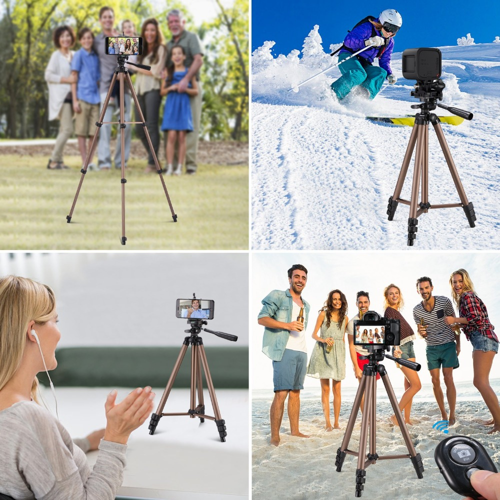tripod for phone with remote control holder stand tripod for phone bluetooth and camera smartphone tripods cam dslr mount        (8)