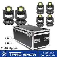 LED 200W Beam Moving Head Light Lyre Beam Spot 2in1 Stage Light Prism Gobo Effect Professional Lighting Packages Flight Case Opt