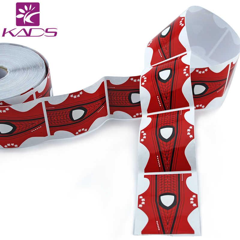 Hotsale 500 Pcs/Roll Kuku Seni Bentuk Merah Bentuk Kuku Seni Tips Ekstensi Bentuk untuk Acrylic Uv Gel untuk bentuk Kuku Gel Kuku